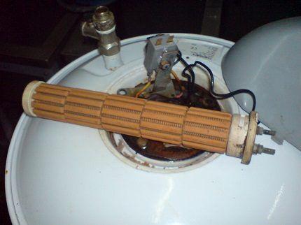 Сухой нагревательный элемент бойлера
