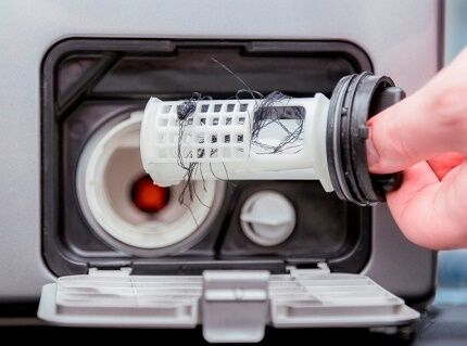Загрязнение фильтра стиральной машинки