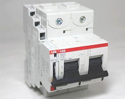Двухполюсный автомат выключатель