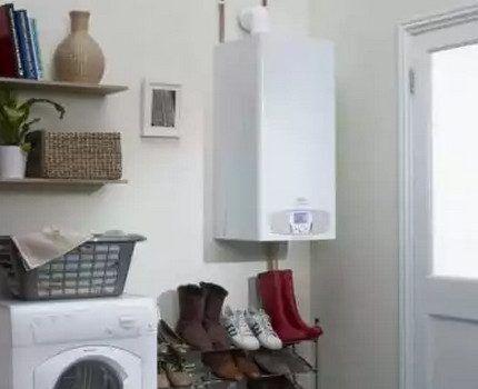 Газовый котел в кладовке