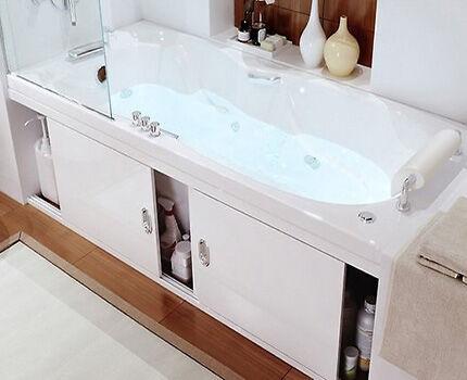 Рациональное использование пространство под ванной