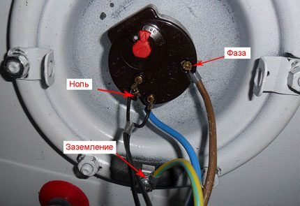 Электрическое подключение бойлера