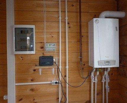 Газовый котел, подключенный к инвертору