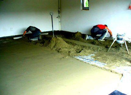 Состав цементного основания