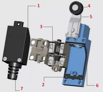 Конструкция концевого выключателя
