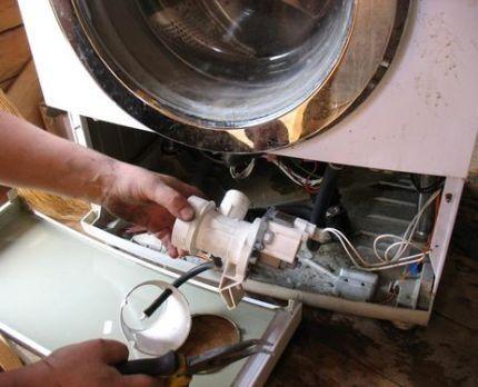 Помпа из стиральной машины