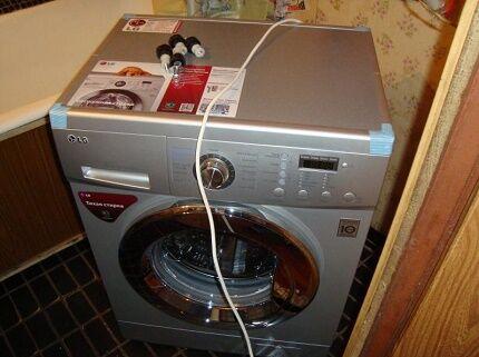 Перекос корпуса стиральной машинки