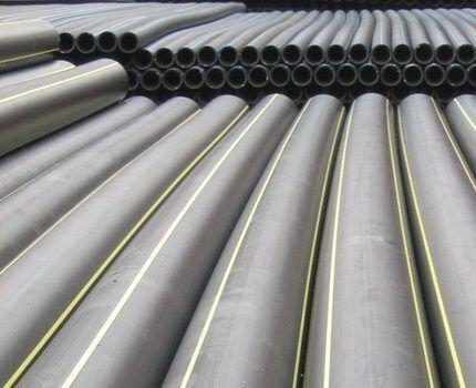Пластиковый газовый трубопровод