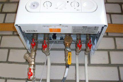 Подключение газовой системы нагрева