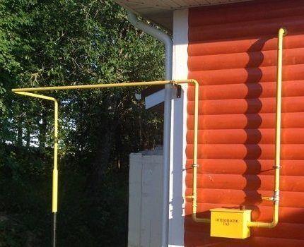 Подведение газа в частный дом