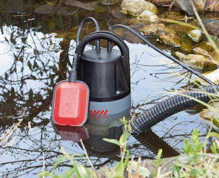 Дренажный насос с поплавковым выключателем