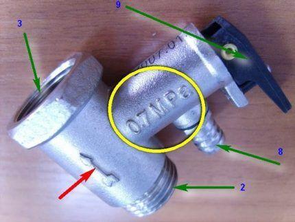 Элементы предохранительного клапана