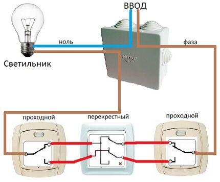 Схема с перекрестным переключателем