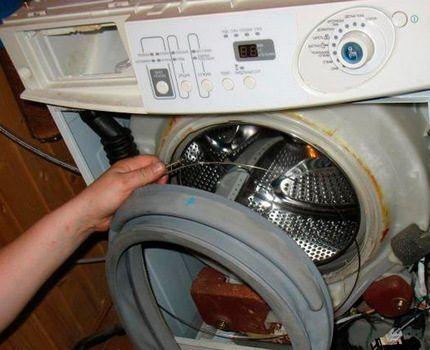 Разборка фронтальной стиральной машины