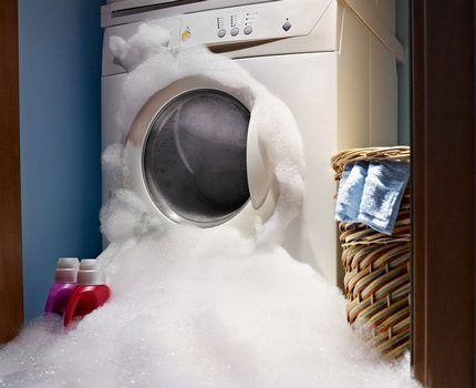 Из стиральной машины пошла пена