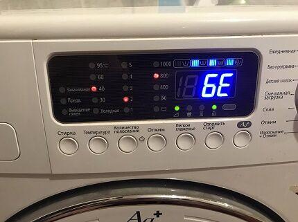 Ошибка в системе управления стиралки Самсунг