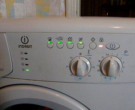 Сигналы о неисправности стиральной машинки