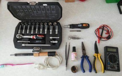 Инструменты для ремонта стиральной машины