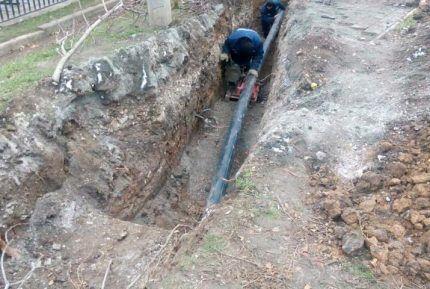Ремонтные работы на водопроводе