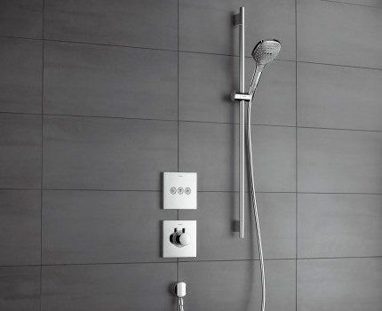 Скрытый монтаж термостатического смесителя