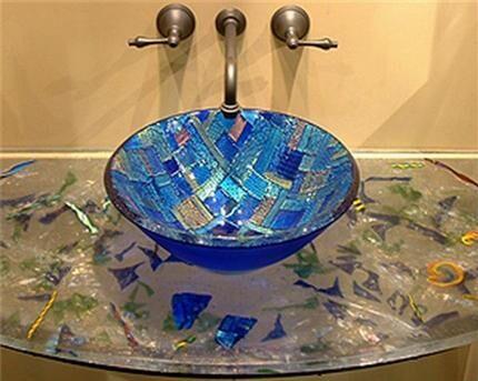 Мозаичная стеклянная раковина