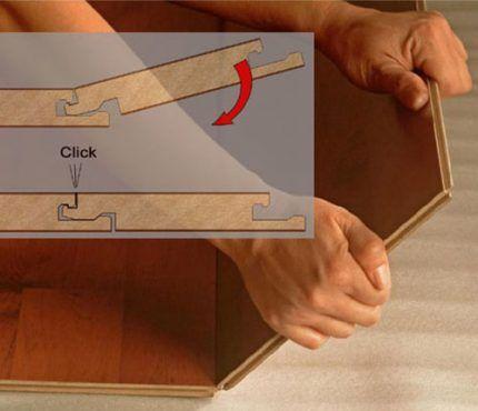 Схема соединения двух деталей