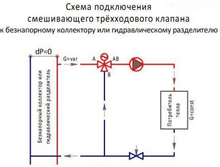 Схема подключения клапана №2