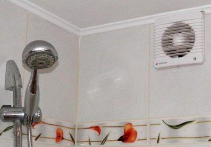 Вентилятор в ванной комнате