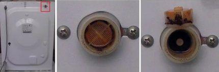 Сетчатый фильтр клапана водозаборного шланга