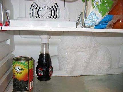Обледенение задней стенки холодильника