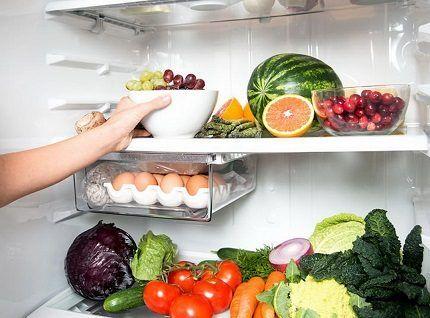 Хранение продуктов в мини-холодильнике