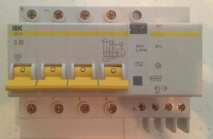 Дифференциальный автомат модели 4Р 32А