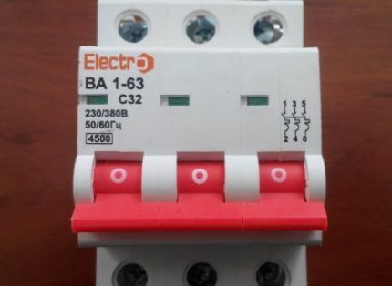 Обозначение тока отключения