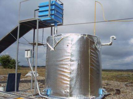 Установка для изготовления биогаза