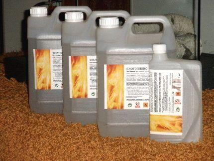 Биотопливо в канистрах