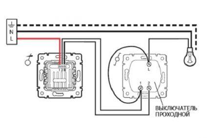 Подключение диммера к выключателю