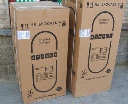 Холодильник в заводской упаковке