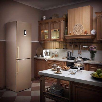 Холодильник Бош с накладными ручками