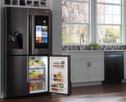 Холодильники Самсунг в интерьере