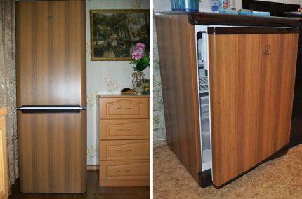 Холодильники с оформлением под дерево