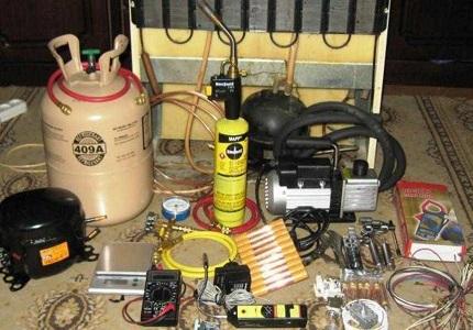 Инструменты для замены компрессора