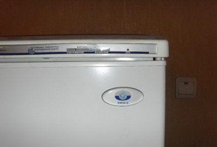 Корпус холодильника с логотипом Минск
