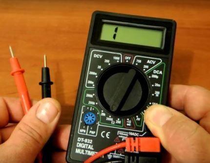 Мультиметр для диагностики машинки