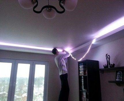 Освещение с помощью светодиодной ленты