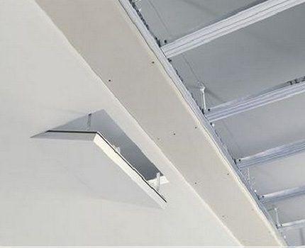 Размещение ответвительных коробок за подвесным потолком