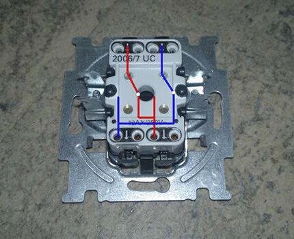 Перекрестный выключатель: назначение и устройство   схема подключения и монтаж