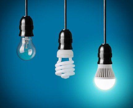 Три поколения лампочек