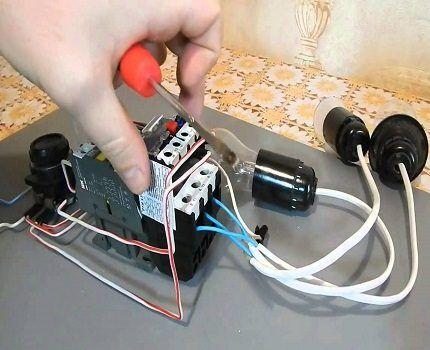 Подключение токового реле