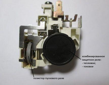 Позистор пускового реле холодильника