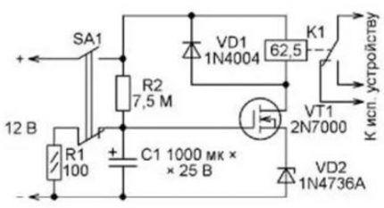 Схема с полевым транзистором на выходе